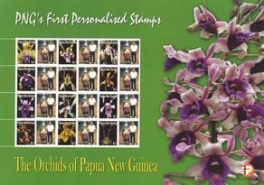 Personalisierte Briefmarke Papua Neuguinea Kleinbogen Orchideen