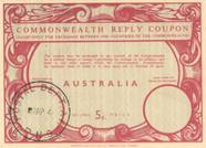 CRC_Commonwealth Reply Coupon used in Papua New Guinea 7.APR.1964
