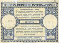 Internatinal Reply Coupon used in PNG