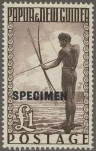 Briefmarke Papua Neuguinea Michel Nr 23 Aufdruck SPECIMEN