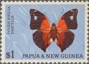 Briefmarke Papua Neuguinea Schmetterling Michel Nr 93 II