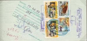 Papua Newguinea Stamp Duty stamp overprint used on a cheque