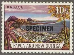 Briefmarke Papua Neuguinea Michel Nr 38 Aufdruck SPECIMEN 13,5 mm