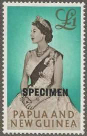 Briefmarke Papua Neuguinea Michel Nr 39 Aufdruck SPECIMEN 15 mm