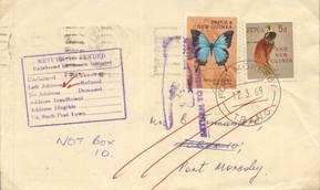 Papua Neuguinea Brief Währungsmischfrankatur