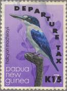 "PNG stamp overprinted ""Departure Tax"""