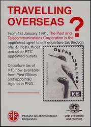 """Papua Neuguinea Briefmarke Michel Nummer 403 mit Aufdruck """"Departure Tax"""""""