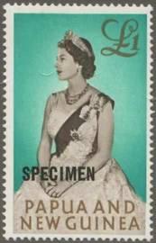 Briefmarke Papua Neuguinea Michel Nr 39 Aufdruck SPECIMEN 13,5 mm