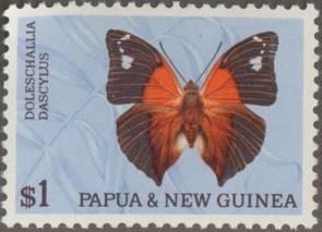 Briefmarke Papua Neuguinea Schmetterling Michel Nr 93 I